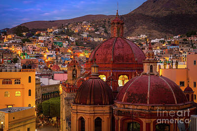 Rooftop Photograph - Evening In Guanajuato by Inge Johnsson