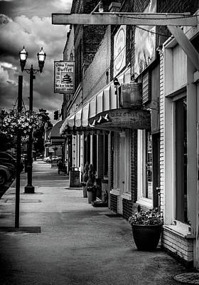 Cherokee County Photograph - Evening In Murphy In Black And White by Greg Mimbs
