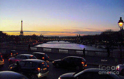 Photograph - Evening In Paris by Felipe Adan Lerma