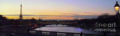 Photograph - Evening In Paris Panorama by Felipe Adan Lerma