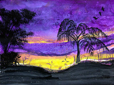 Painting - Evening In Purple by Sarah Hornsby