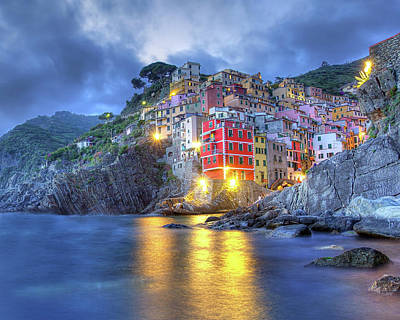 Photograph - Evening In Riomaggiore by Peter Kennett