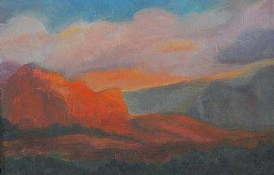 Evening In Sedona Art Print by Stephanie Allison