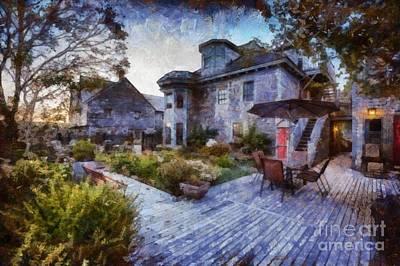 Digital Art - Evening In Shelburne by Eva Lechner