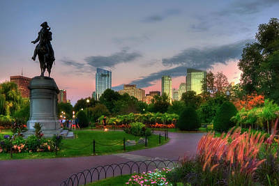 Photograph - Evening In The Boston Public Garden  by Joann Vitali