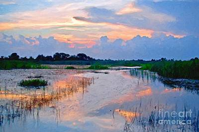 Painting - Evening In The Marsh by Tammy Lee Bradley
