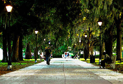 Evening In The Park Art Print by David Lee Thompson