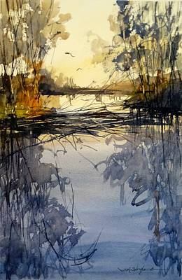 Painting - Evening In The Wetlands by Sandra Strohschein