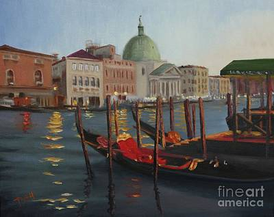 Venice Painting - Evening In Venice by Laura Toth
