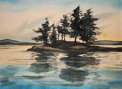 Evening Island Art Print