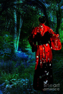Evening Dress Mixed Media - Evening Kimono  by Tammera Malicki-Wong