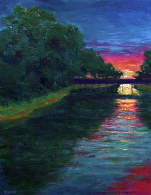 Painting - Evening, Lagan Lake Reflections by Vernon Reinike