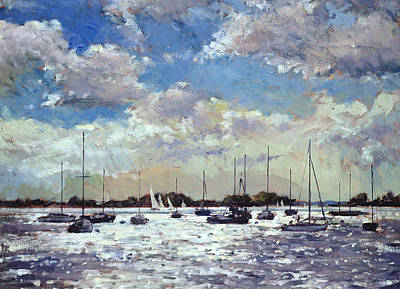 Sailboat Painting - Evening Light - Gulf Of Morbihan by Christopher Glanville