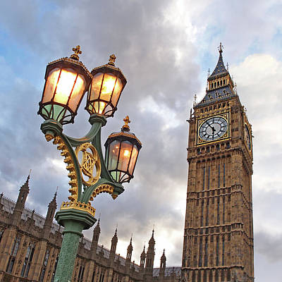 Evening Light At Big Ben Art Print