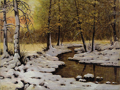 Painting - Evening Light By Ivan Fedorovich Choultse  by Ivan Fedorovich Choultse