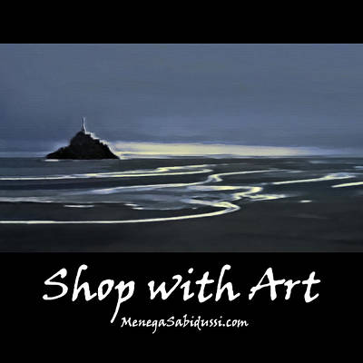 Painting - Evening Light In The Bay Of Mont Saint Michel - Shop With Art by Menega Sabidussi