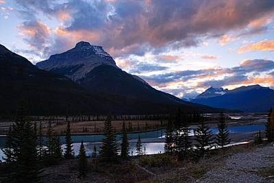 Banff Photograph - Evening Light In The Mountains by Larry Ricker