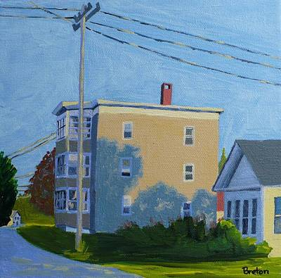 Maine Painting - Evening Light Northern Avenue by Laurie Breton