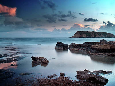 Paphos Photograph - Evening Light On St. Georges Island by Amanda Finan