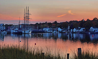 Photograph - Evening Light Over Mystic by Ben Prepelka