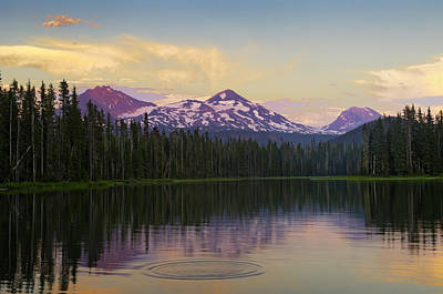 Photograph - Evening Light Over Scott Lake by Greg Vaughn - Printscapes
