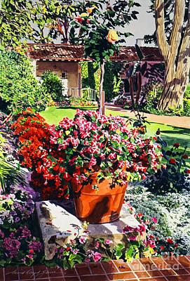 Evening Light Santa Barbara Biltmore Art Print by David Lloyd Glover