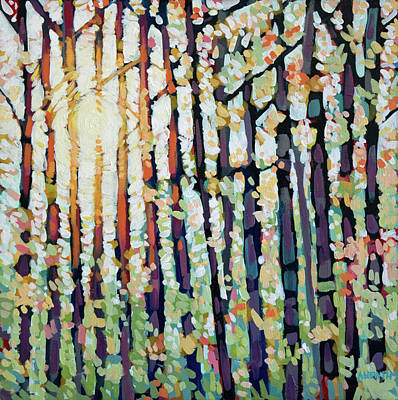 Wall Art - Painting - Evening Light Shines Through  by Alison Newth