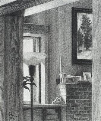 Drawing - Evening Light Through A Window by Rebecca Giles
