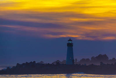 Photograph - Evening Lighthouse by Garry Gay