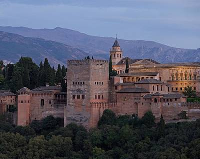 Photograph - Evening Lights At The Alhambra by Stephen Taylor