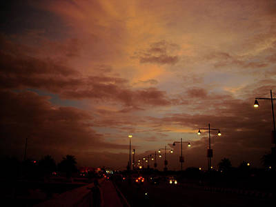 Photograph - Evening Lights On Road by Atullya N Srivastava