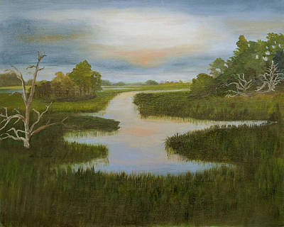 Evening Marsh Art Print by Shirley Lawing