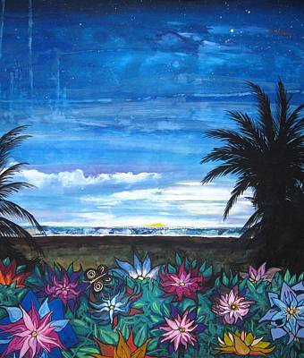 Tropical Evening Art Print by Mary Ellen Frazee