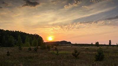 Photograph - Evening Meadow. Horytsya, 2014. by Andriy Maykovskyi
