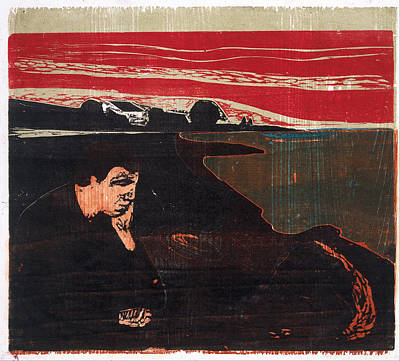 Moody Painting - Evening Melancholy By Munch by Edvard Munch