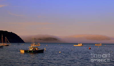 Photograph - Evening Mist On Bar Harbor by Lennie Malvone