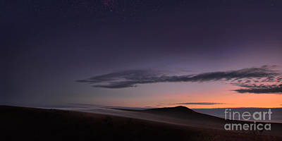 Photograph - Evening Mist Rising On The Cronk 2 by Paul Davenport