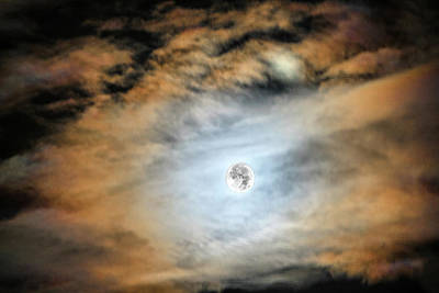 Photograph - Evening Moon  by Cliff Norton