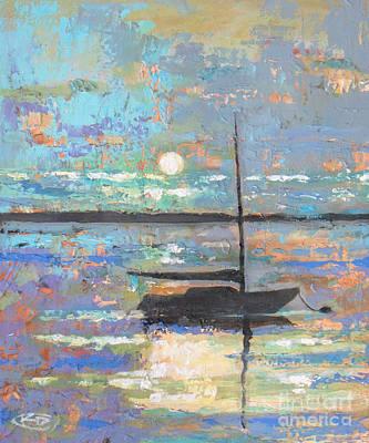 Cape Cod Painting - Evening Moon by Kip Decker