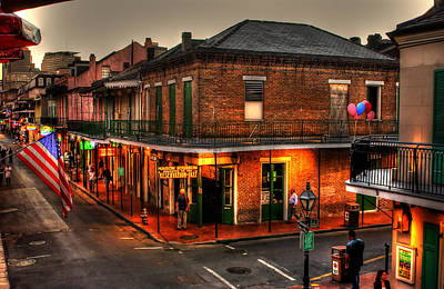 Sign Photograph - Evening On Bourbon by Greg and Chrystal Mimbs