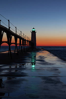 Photograph - Evening On Lake Michigan by Fran Riley