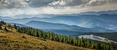 Photograph - Evening On Mount Evans by James Woody