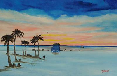 Painting - Evening On Siesta Key by Lloyd Dobson