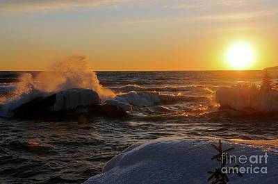 Photograph - Evening On Superior by Sandra Updyke