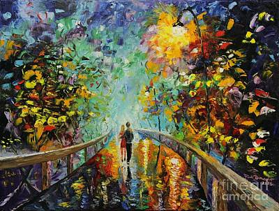 Brilliant Painting - Evening On The Boardwalk by Rich Donadio