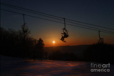 Photograph - Evening On The Lift by Dan Friend