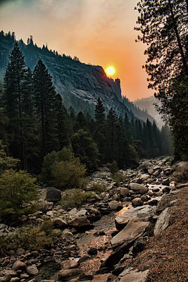 Photograph - Evening On The Merced River by Kristia Adams
