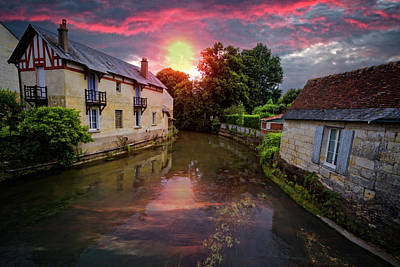 Evening On The River Art Print