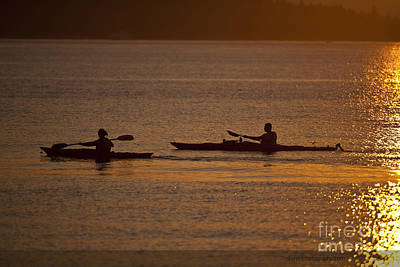 Kayaker Photograph - Evening On The Water by Mike Reid