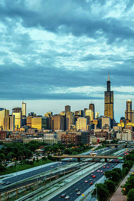 Evening Over Chicago Skyline Art Print